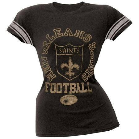 New Orleans Saints - Vintage Logo Juniors Varsity T-Shirt - Nfl.com Saints