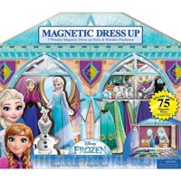 Bendon 3 Wooden Magnetic Dress-Up Dolls & Wooden Play House (75 Pieces) - Disney Frozen
