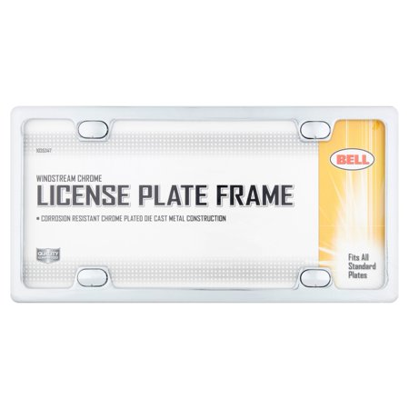 Bell Windstream Chrome License Plate Frame Blue Airbrushed License Plates