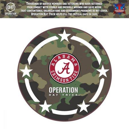 Alabama Crimson Tide 24'' x 24'' Operation Hat Trick Coin Die Cut Vinyl Decal - No Size