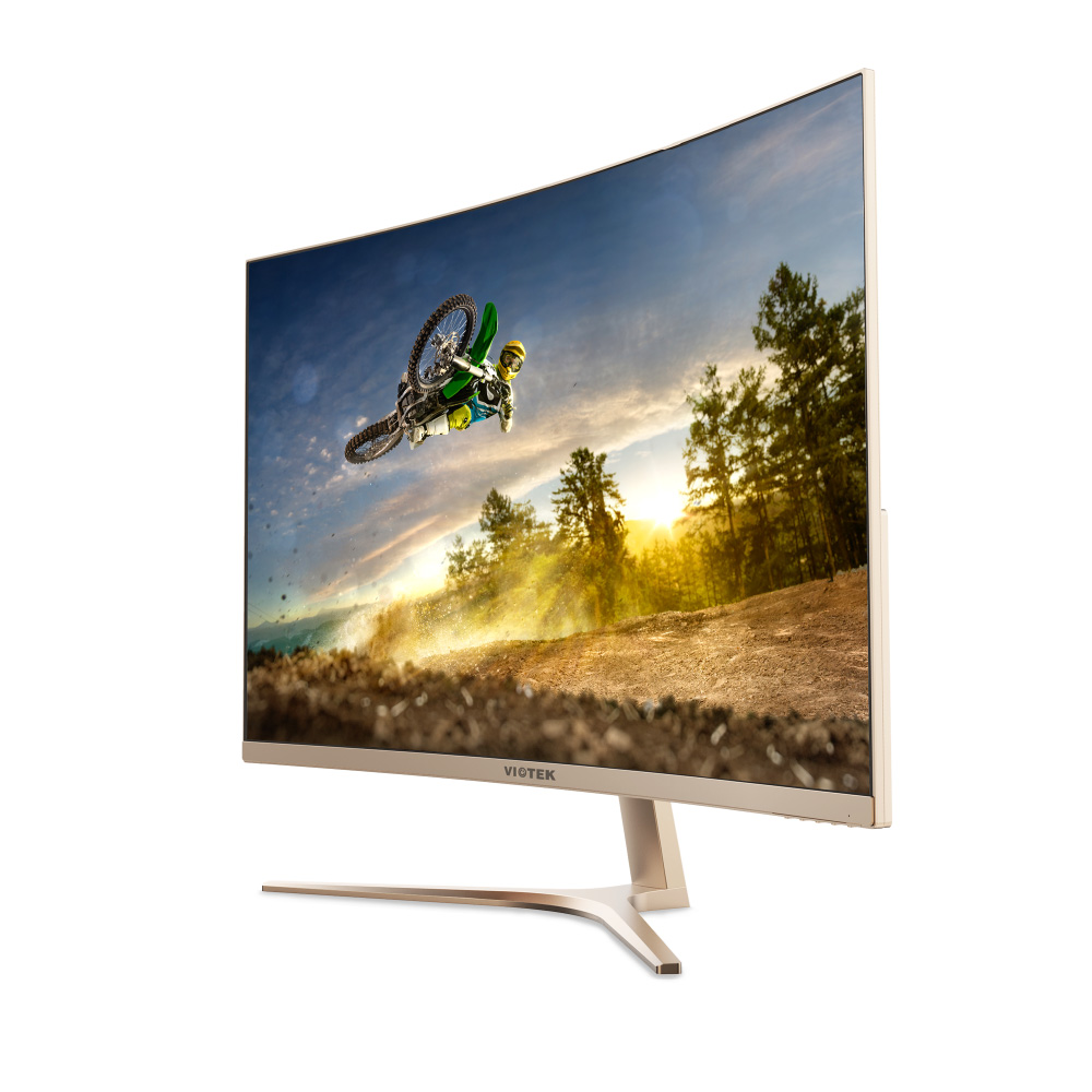 VIOTEK GN32Q – 32 Inch WQHD 144 Hz Curved Computer Monitor – 2560x1440p, FPS/RTS Optimized w/ Crosshairs Functionality