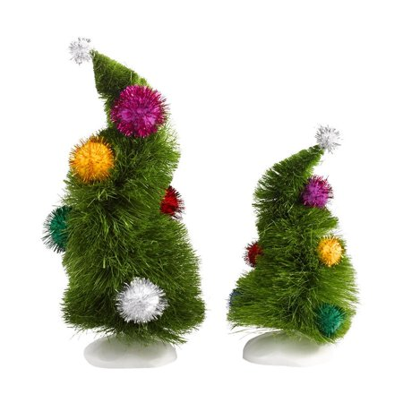 Grinch Fur (Department 56 Grinch Villages Wonky Trees, Set of 2, Great for Christmas Home Décor and Christmas Gifting By Department-56 Ship from)