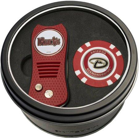 Team Golf MLB Tin Gift Set with Switchfix Divot Tool and Golf Chip Baseball Gift Baskets