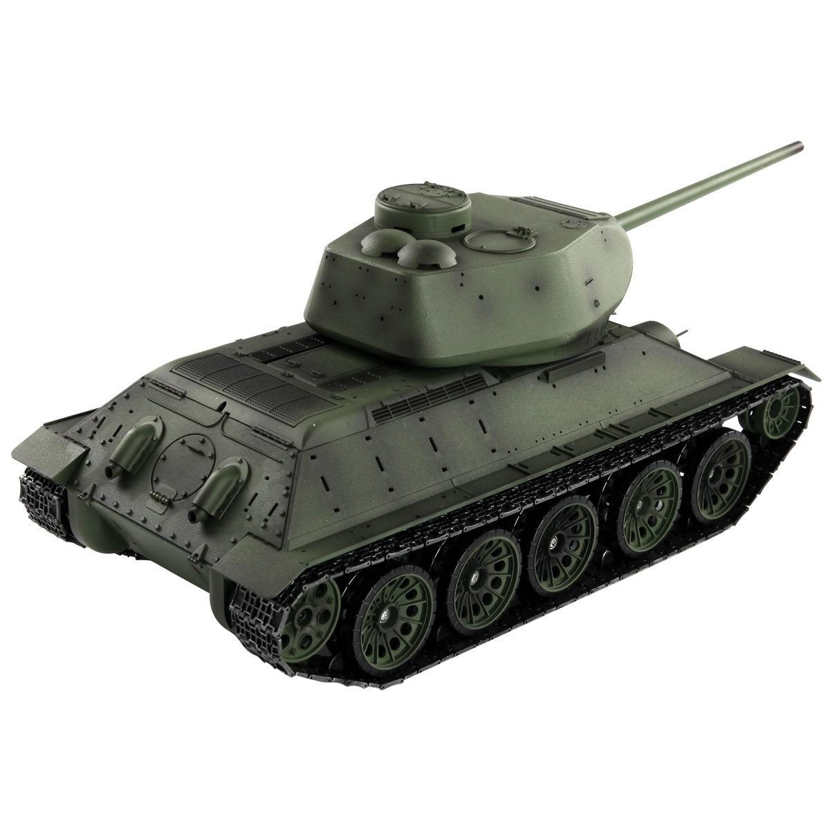 1:16 2.4G T34/85 Russian Army RC Battle Tank Smoke & Soun...
