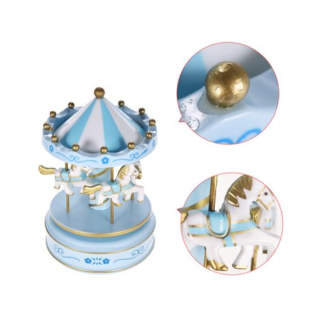 Merry-Go-Round Carousel Music Box Classical Melody Birthday Christmas Festival Musical Gift for Children Kids - image 3 of 6