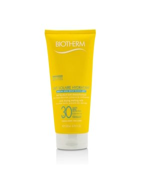 Biotherm Lait Solaire Hydratant Anti-Drying Melting Milk SPF 30, For Face & Body, 6.76 Oz
