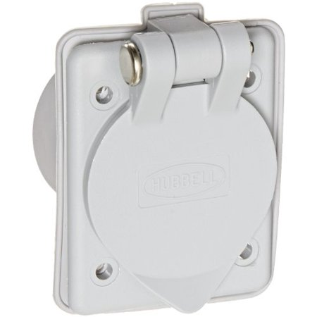 15A 125 VAC Nylon Mount Inlet Ideal for Bass Boat Battery Charging Connection
