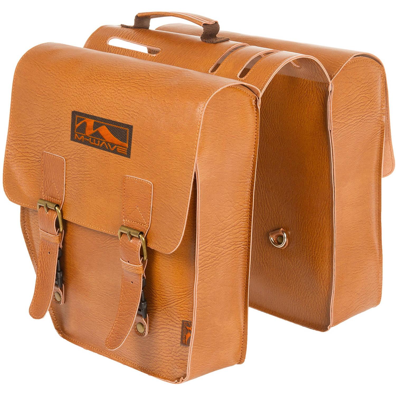 Ventura Amsterdam Double L Leatherette Pannier Bag