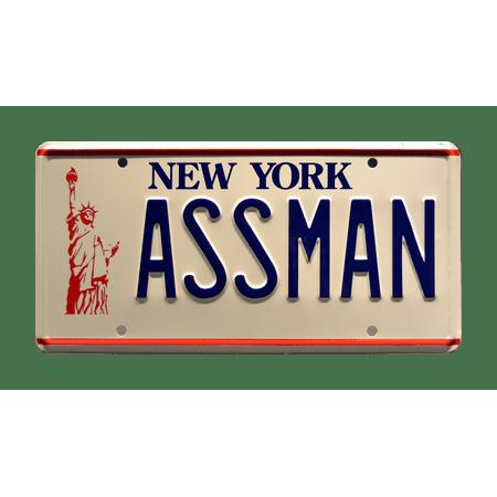 Seinfeld | Cosmo Kramer's Impala | ASSMAN | Metal Stamped Replica Prop License Plate ()