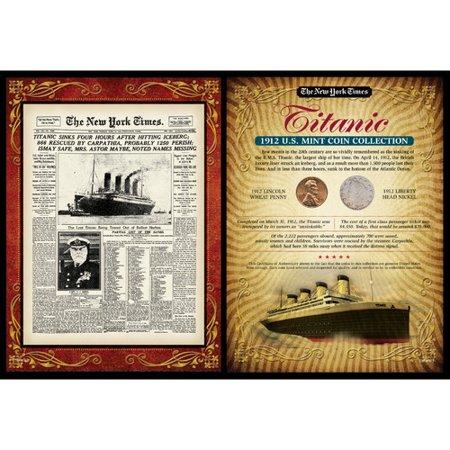 American Coin Treasures New York Times Titanic Portfolio Memorabilia