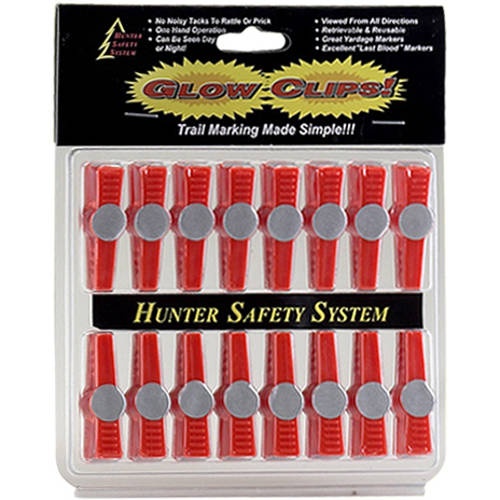 Hunter Safety System Glow Clips, 16-Pack