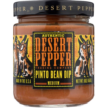 Desert Pepper Pinto Bean Dip, 16 oz (Pack of 6) Chipotle Black Bean Dip