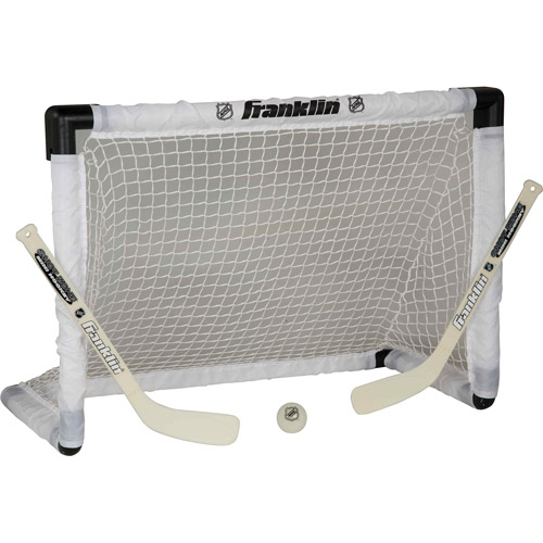 Franklin Sports NHL Mini Hockey Light Up Goal Set