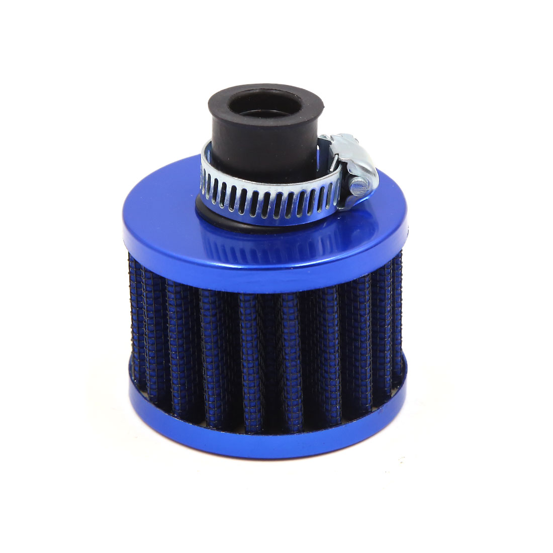 Blue 13mm Inlet Dia Car Vehicle Air Intake Filter Cleaner w Adjustable Clamp