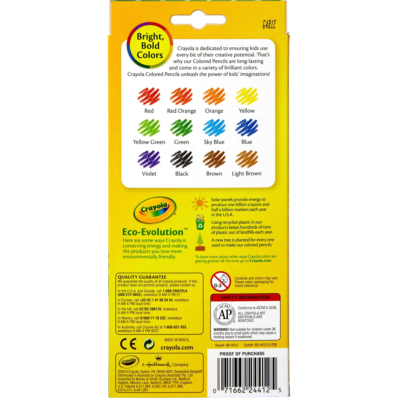 crayola 12 count erasable colored pencils walmart com
