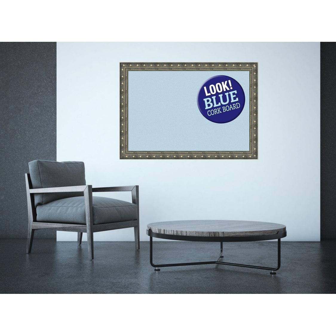 Amanti Art DSWBARCB2820 Barcelona 28 Inch x 20 Inch Framed Cork Board