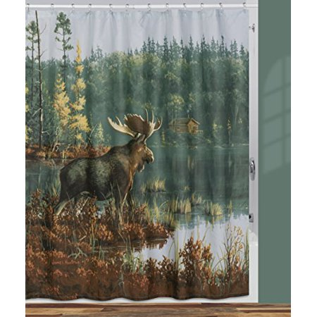 "Creative Bath Products Back Bay Moose Shower Curtain, 72"" x 72"" - image 1 de 1"