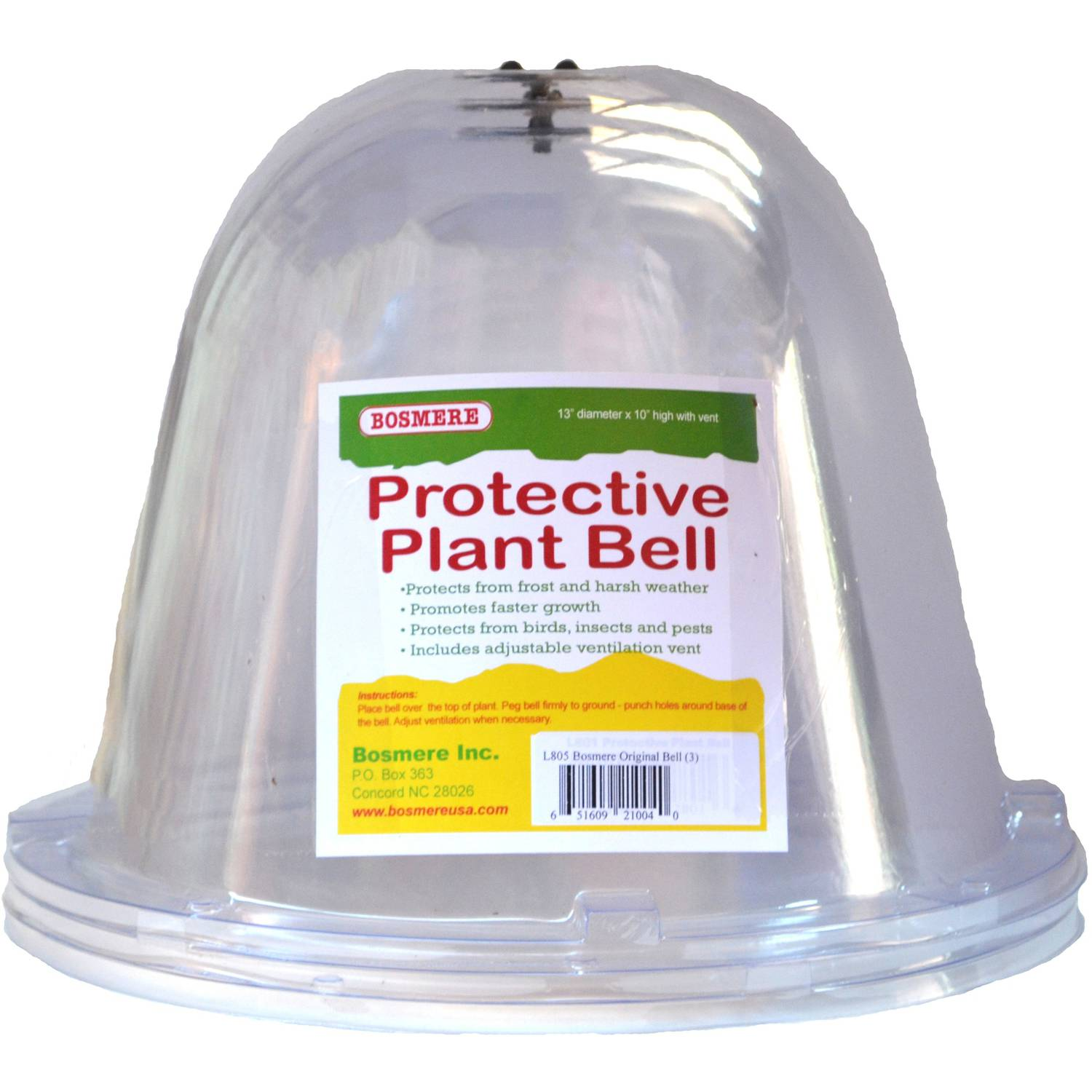 Bosmere Original Bell Plant Protectors with Vent, Set of 3