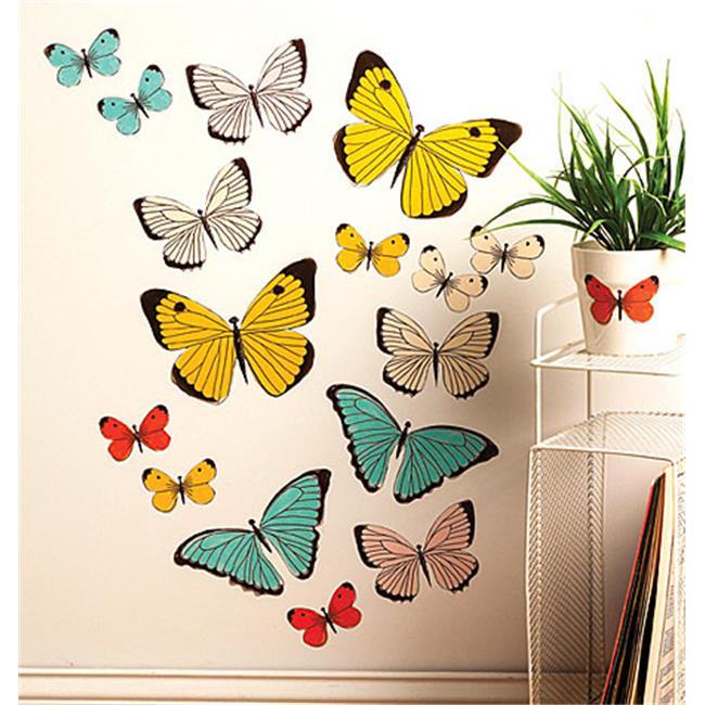 Pastel Butterflies Big Wall Sticker - image 1 de 1