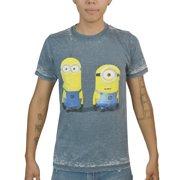 Despicable Me Distressed Minions Men's Blue T-shirt NEW Sizes S-XL