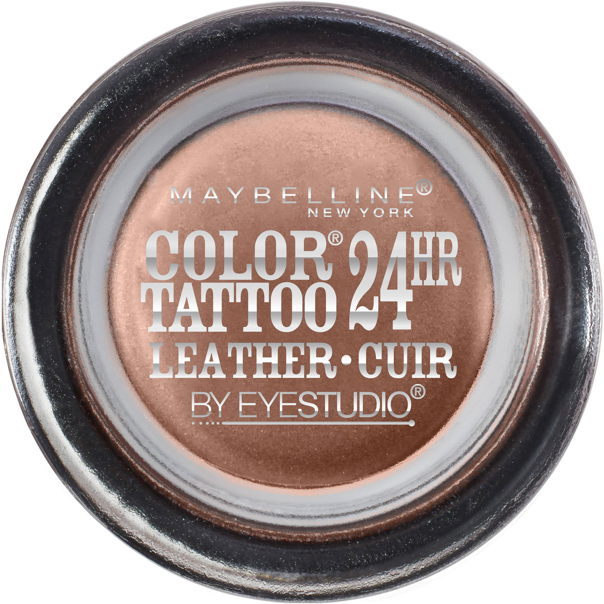 Maybelline Eyestudio ColorTattoo Leather 24HR Cream Eyeshadow, Creamy Beige, 0.14 Oz