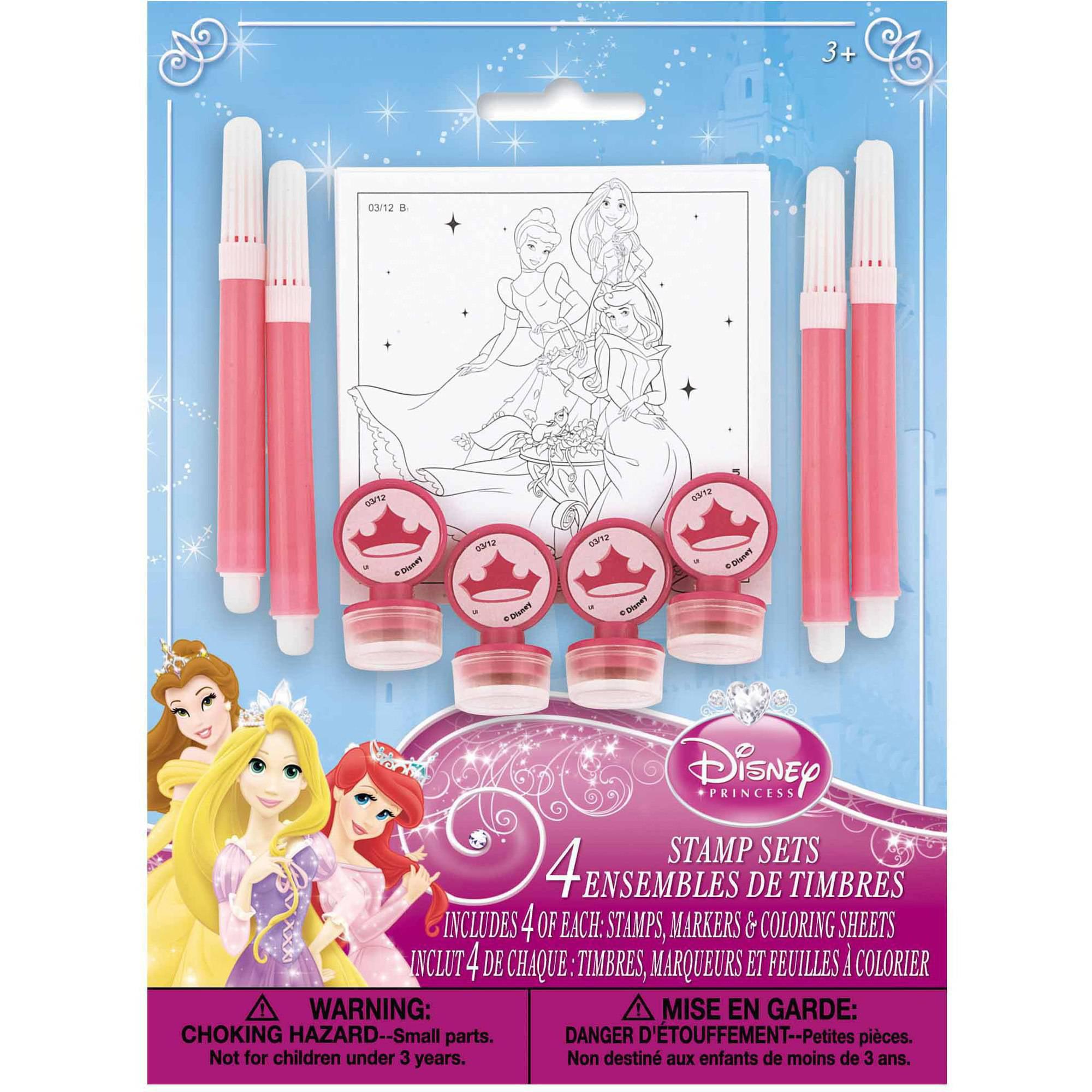 Disney Princess Stamp Set Party Favors, 4ct