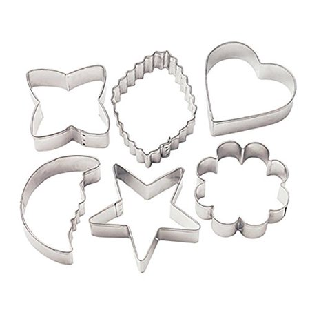 Wilton Cookie Cutter Set, Basic Shapes 6 ct. 2308-1235 (Mickey Mouse Cookie Cutter Large)