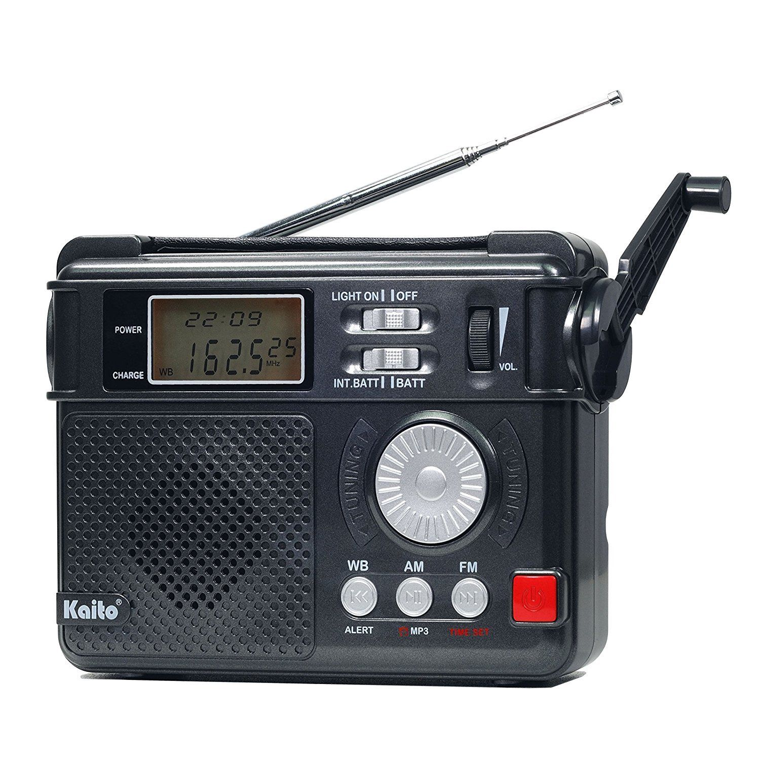 Kaito KA346 Digital AM FM NOAA Weather Alert Emergency Radio and Flashlight by Kaito