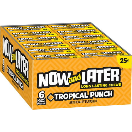 The Chew Halloween Punch (Now and Later, Original Tropical, Fruit Punch Taffy Chews Candy, 0.93oz (Box of)