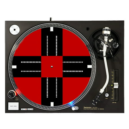 "KuzmarK™ 12"" DJ Turntable Slipmat - Traffic"