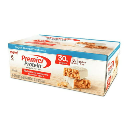 Premier Protein Bar, Yogurt Peanut Crunch, 30g Protein, 6 Ct