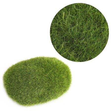 Qiilu 12Pcs Green Artificial Moss Stones Simulation Grass Bryophyte Bonsai Garden DIY Landscape Decor, Simulation Moss, Artificial Moss Stone - image 2 of 8