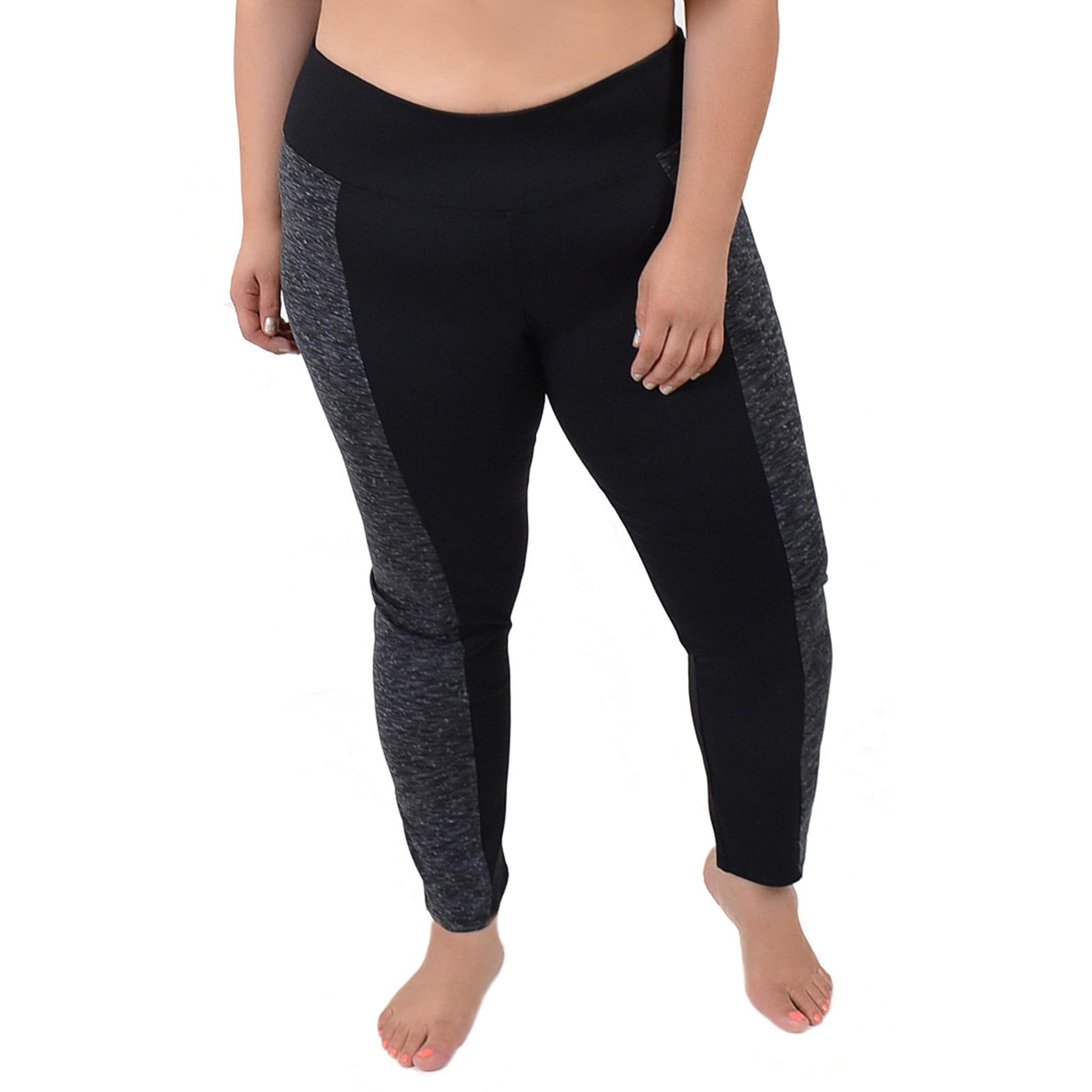 Plus Size Vicky Two-Tone Leggings - XXX-Large (20-22) / B...