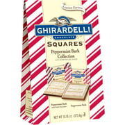 Ghirardelli Holiday Chocolate Squares Peppermint Bark Collection Gift, 13.15 oz