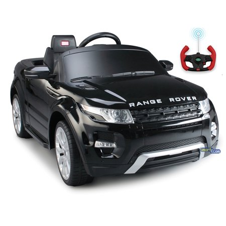 - 12V Electric power car Range Rover Evoque Ride on toy for kids with Remote Control LED lights MP3 music and horn - Black