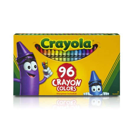 Crayon Assortment - Crayola Classic Crayons with Sharpener, 96 Count