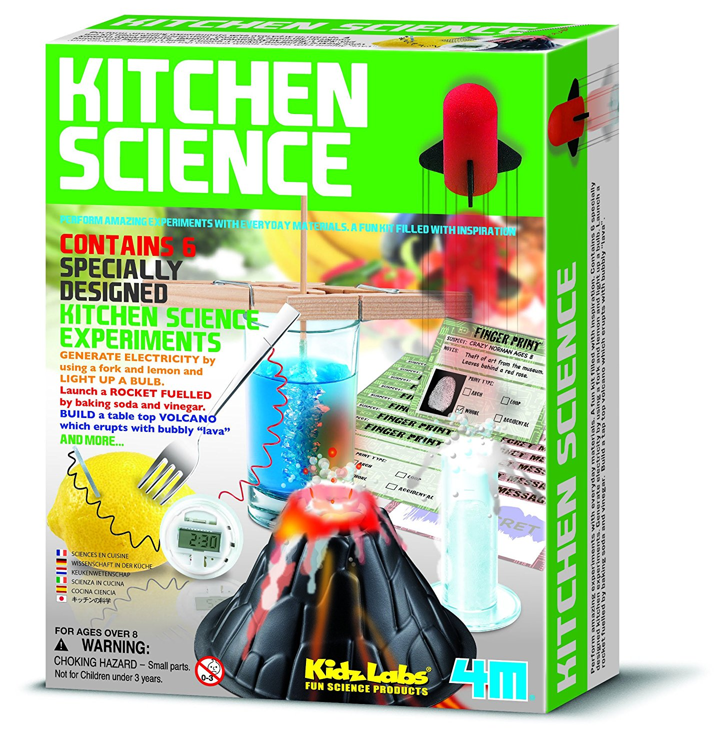 4M Kidz Labs Kitchen Science, Six exciting experiments that use ...