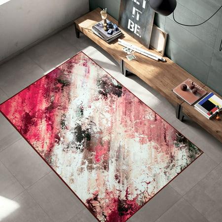 Woven Trends LaCasa 047 Abstract Galaxy Multi Contemporary Modern Area Rug - Non-Slip/Skid Rubber Back Carpet