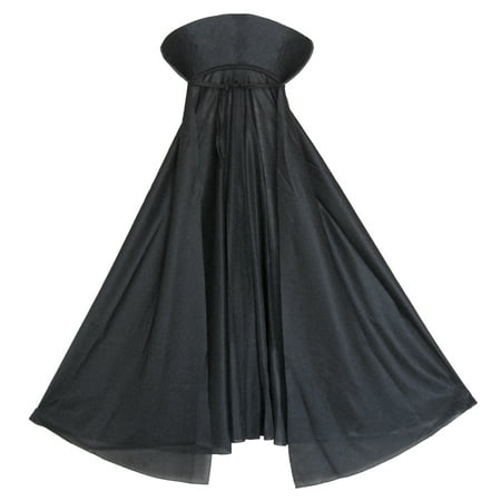 SeasonsTrading Child Black Vampire Cape with Collar Costume - Black Cape Costume