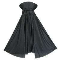 SeasonsTrading Child Black Vampire Cape with Collar Costume Accessory