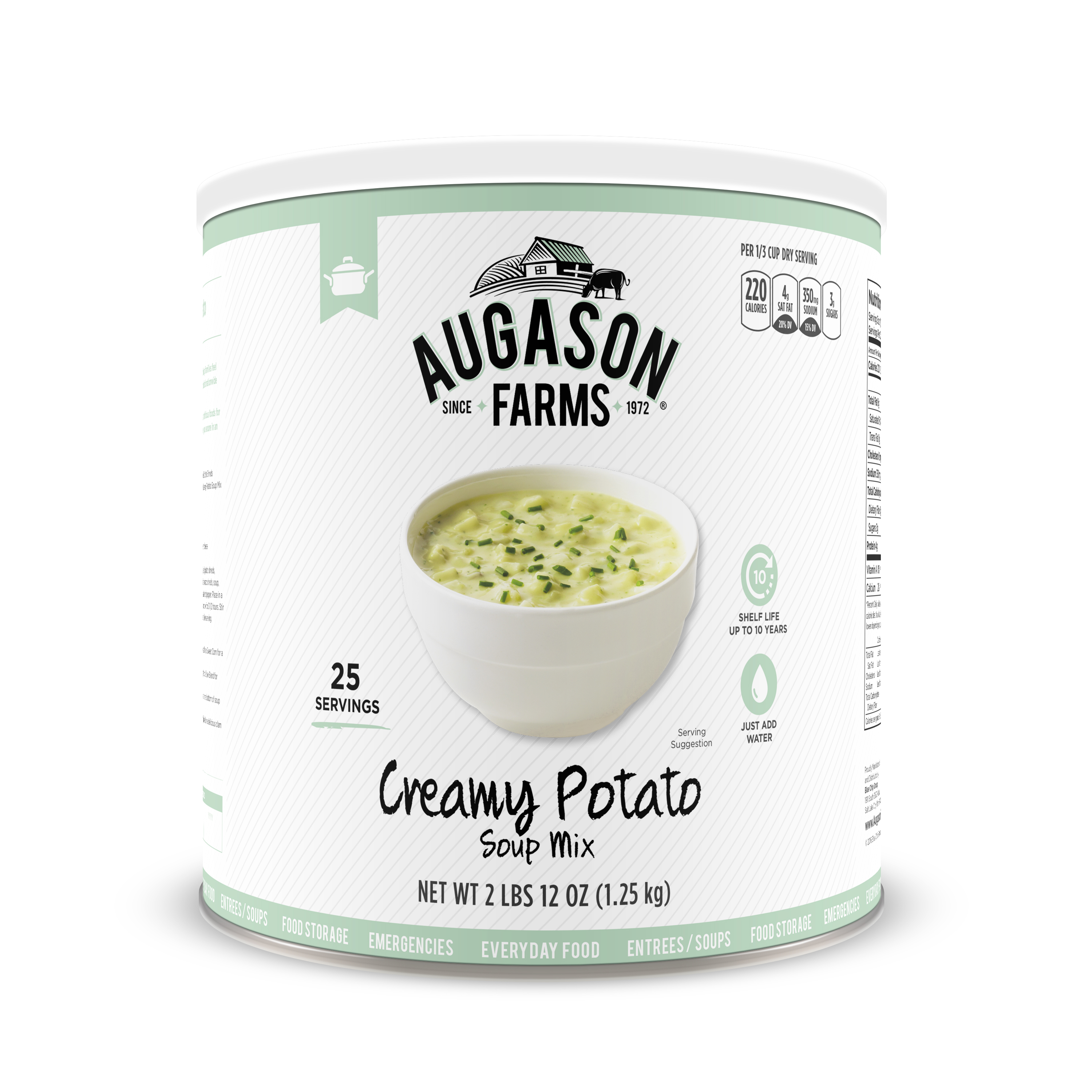 Augason Farms Creamy Potato Soup Mix 2 lbs 12 oz No. 10 Can