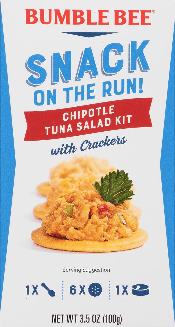 Bumble Bee Snack On The Run Chipotle Tuna Salad Kit With Crackers 3 5 Oz Walmart Com Walmart Com