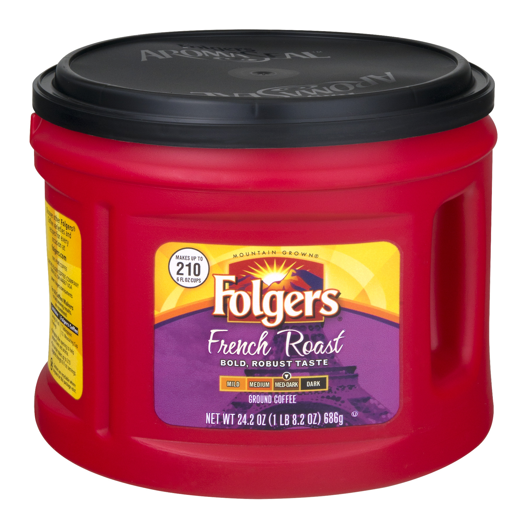 Folgers Ground Coffee French Roast, 24.2 OZ