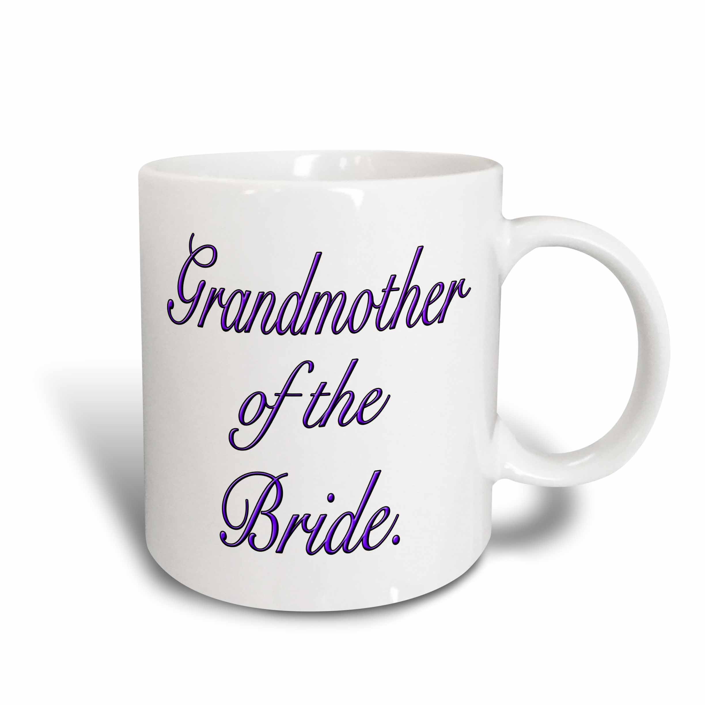3dRose Grandmother of the Bride, Purple, Ceramic Mug, 11-ounce