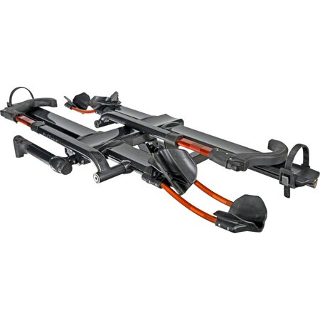 Kuat NV 2.0 2-Bike Tray Hitch Rack: Metallic Gray and Orange, 2