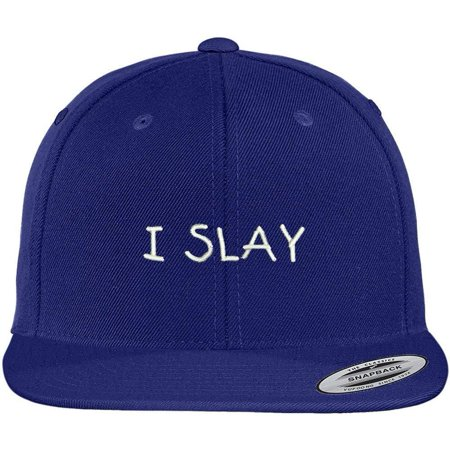424cd3806c2 Trendy Apparel Shop Slay Flexfit Embroidered Flat Bill Snapback Cap -  Walmart.com