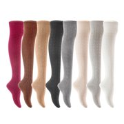 3 Pairs Awesome Women Thigh High Cotton Boot Socks. Durable Knee High Socks, Perfect As Winter & Spring Socks Size 6-9 T1024 (Assorted)