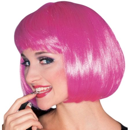 Hot Pink Super Model Wig - Hot Pink Curly Wig