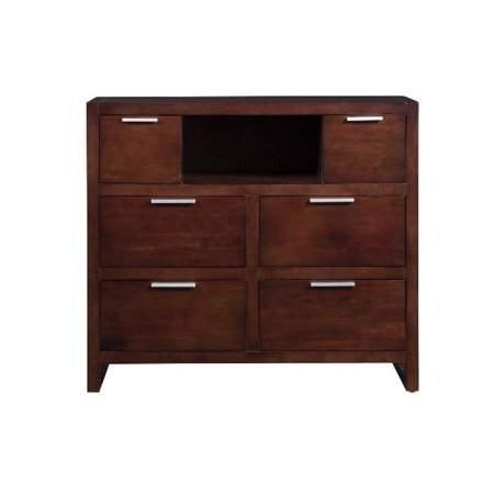 Alpine Furniture TA-11 Camarillo TV & Media Chest, Merlot – 40 x 20 x 45 inch
