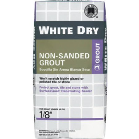 CUSTOM BLDG PRODUCTS Dry Tile Grout, White, 25-Lbs.